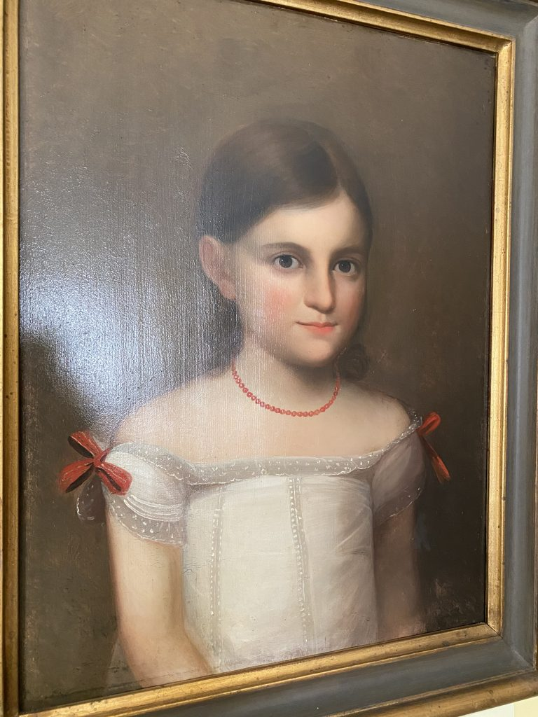 Oil painting of Francis Henrietta as a child